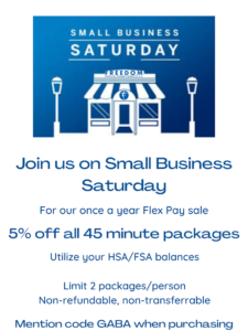 Freedom Physical Therapy Small Business Saturday Offer
